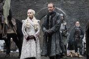Daenerys arrivant à Winterfell