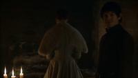 Ramsay dit à Schlingue qu'il va regarder Sansa devenir une femme