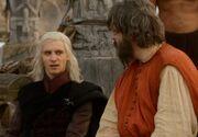 Viserys discute avec Illyrio