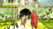 Harlen à genoux devant Aegon (Histoires & Traditions)