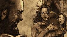 Gregor Clegane face à Elia Martell et ses enfants