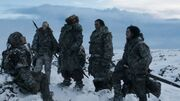 Ygrid, Tormund, Mance et Jon autour d'Orell (3x02)