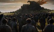 Les survivants devant la Reine des Dragons