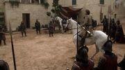 Jaime Lannister et ses hommes encerclent Ned Stark et Jory Cassel