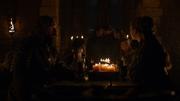 Sansa regardant Sarra et Podrick