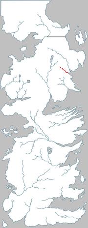 Localisation de la Larmoyante sur une carte