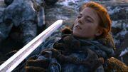 Ygrid seule face à Jon Snow (2x06)