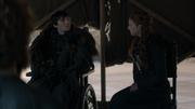 Sansa déclarant le Nord indépendant