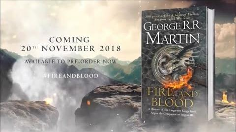 A Game Of Thrones Prequel Fire And Blood Book Promo (GRRM)