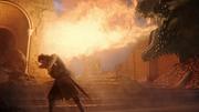 Drogon brûlant le trône