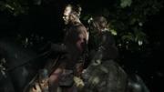 Thoros à cheval avec Arya