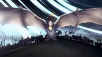 Rhaenys et son dragon