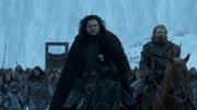 Jon et Tormund retournant Au delà du Mur