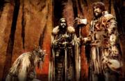 Balon s'agenouille devant Eddard Stark et Robert Baratheon