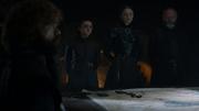 Sansa suggérant de laisser les hommes se reposer