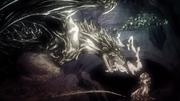Un dragon mange un Targaryen