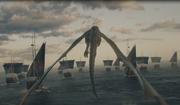 Drogon accompagnant sa Mère et sa flotte