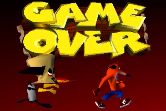 image e3 crash bandicoot demo png game over dex wiki fandom