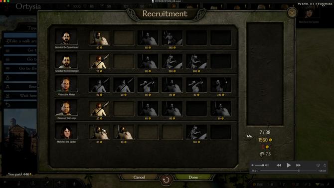 Bannerlord Recruitment Screen
