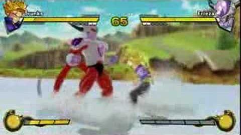 Dragon Ball Z Burst Limit gameplay Trunks vs Frieza