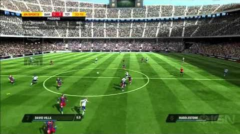 FIFA 11 FC Barcelona with David Villa Gameplay