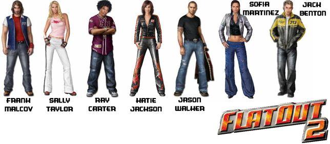 Flatout 2 Charaktere
