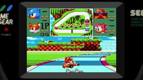 Sonic Drift (Sega Game Gear) Gameplay Part 1 (Green Chaos Emerald GP)