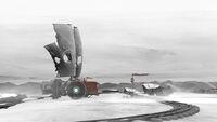 FAR-Lone-Sails Screenshot Schnee-Landschaft