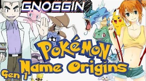 Pokemon Name Origins 1st Gen Gnoggin