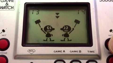 Judge Game B Gameplay - Nintendo Game & Watch