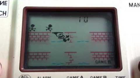 Manhole Gameplay - Nintendo Game & Watch