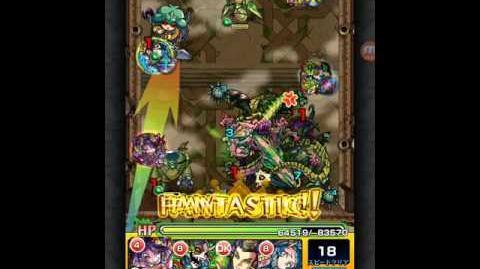 モンスト 覇者の塔 18階 墳墓の緑毒龍