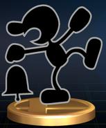 Mr. Game & Watch - Brawl Trophy