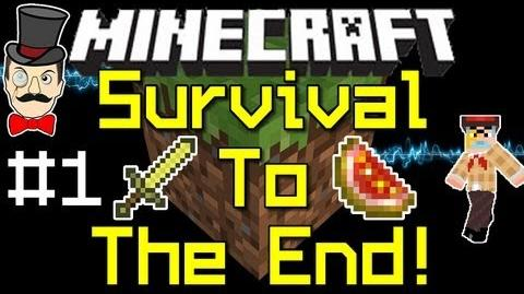 Minecraft 1.0 SURVIVAL to THE END Playthrough PART 1 !-0