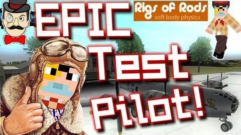 BERTIE = EPIC TEST PILOT! Rigs of Rods 2 - Airplane Tour !