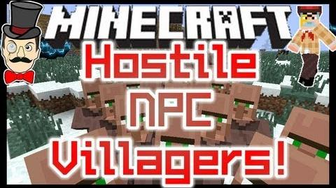 Minecraft Mods - ANGRY NPC VILLAGERS ! Hostile Mob of Village Mobs !