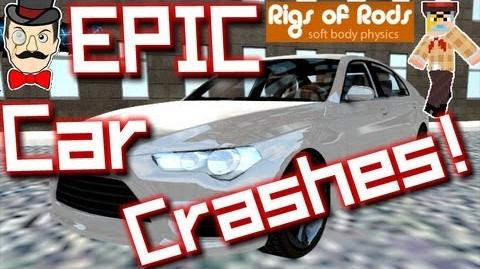 EPIC CAR CRASHES ! Rigs of Rods 1 - Mountain Dive !