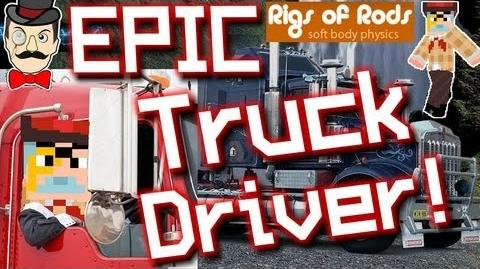 BERTIE = EPIC TRUCK DRIVER ! Rigs of Rods 3 - Courier Delivery !