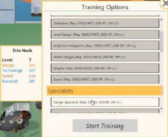 Training Game Dev Tycoon Wiki Fandom