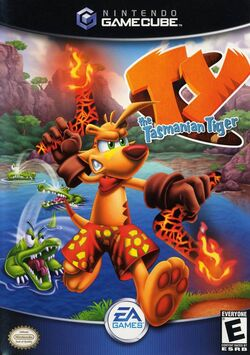 Ty the Tasmanian Tiger American Gamecube Boxart