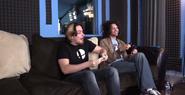 Arin and Dan in the Grump Recording Room
