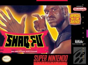 Snes shaq-fu box