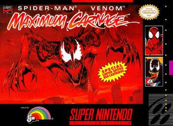 Spider-ManandVenomMaximumCarnageSNESCover