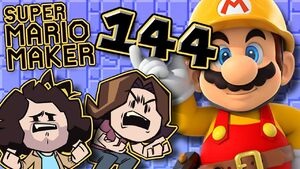 Super Mario Maker - 100% Of My Body - PART 144 - Game Grumps