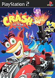 Crash Tag Team Racing PS2 Front Cover