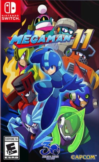 Mega Man 11 Switch Box Art