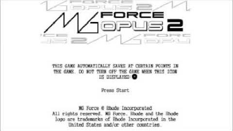 MG Force Opus 2 (PS1 PC) - Full Soundtrack-0