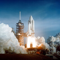Space Shuttle Columbia launching