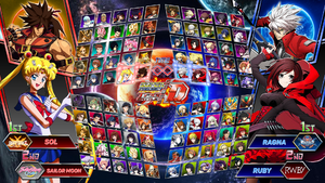 Super Project Cross Tag Battle - Character Roster