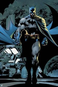 Batman-batman-walking-forward-with-cape-flowing-behind-him-and-machines-in-the-background a-G-13188548-4985786